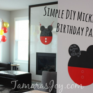 DIY Mickey Mouse Birthday Party Decor