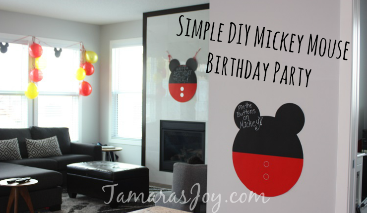 An Easy DIY Mickey Mouse Birthday Party