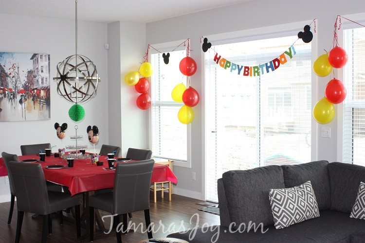 Diy Mickey Mouse Birthday Party Decor ⋆ Tamara S Joy