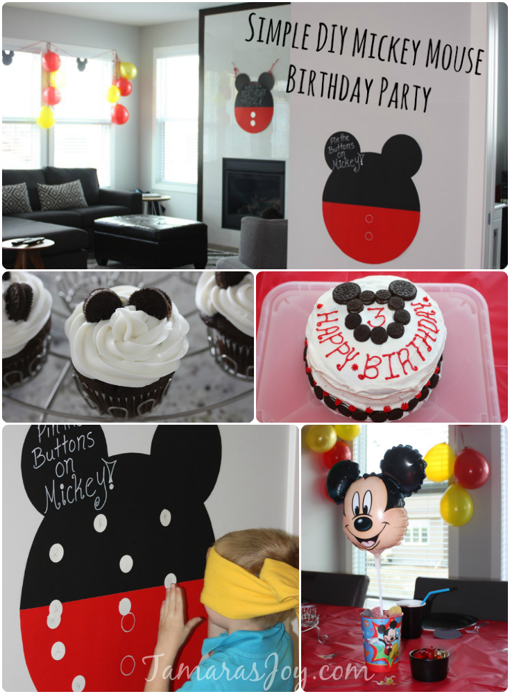 DIY Mickey Mouse Birthday Party Decor Tamaras Joy