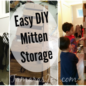 Easy DIY Mitten Storage helps us stay organized