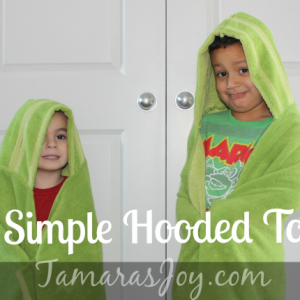 Sew Simple Hooded Towels: It's Fast, Easy & Adorable!