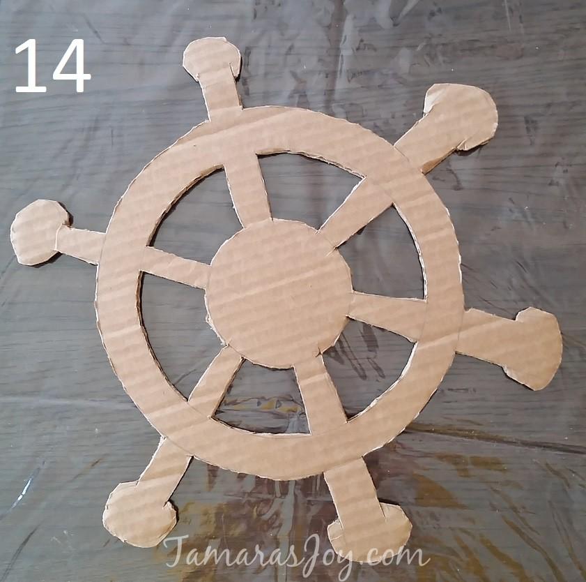 boys kids costume diy cardboard pirate ship tamara 39 s joy. Black Bedroom Furniture Sets. Home Design Ideas