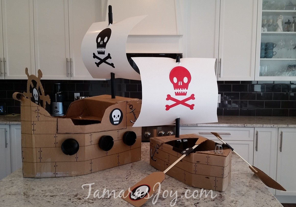 Easy Kids Pirate Costume Made From Cardboard Tamaras Joy Ship Diagram With Labels Google Search Pirates Ships Since