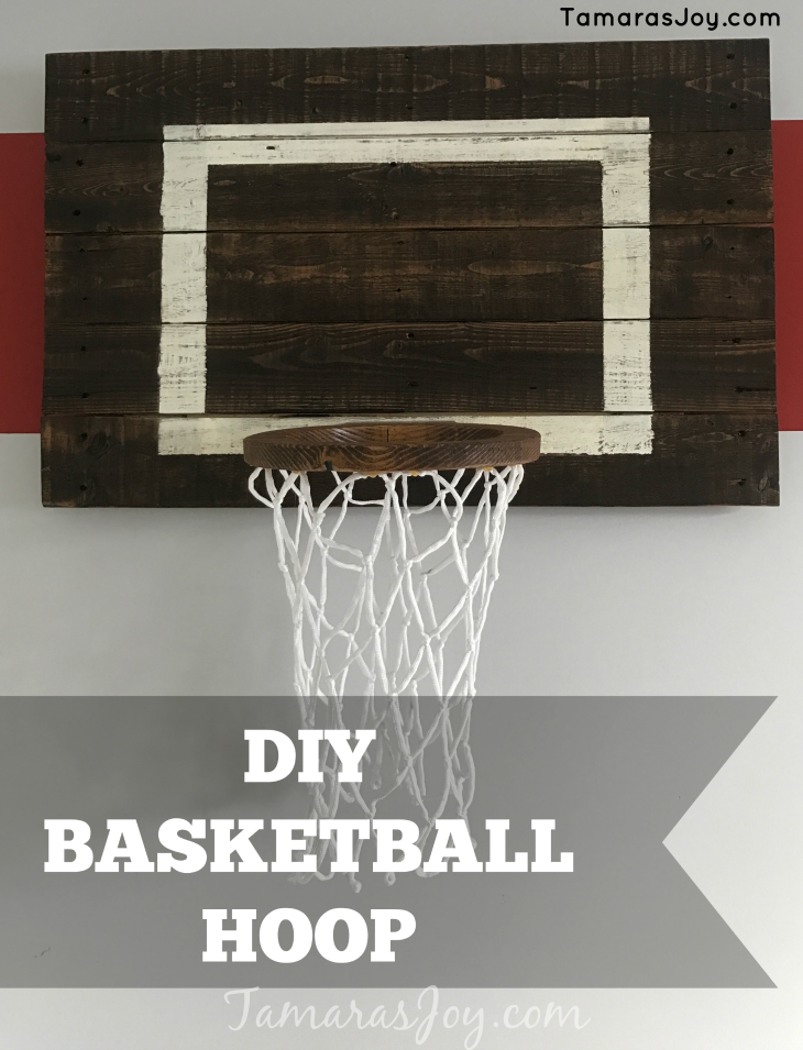Diy basketball hoop for my boys bedroom tamara 39 s joy for Basketball hoop for kids room