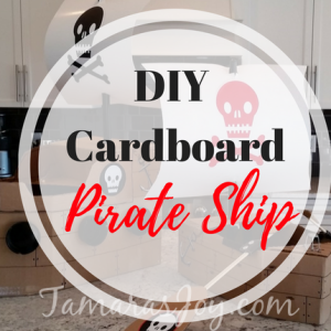 Boys Kids Costume, DIY Cardboard Pirate Ship