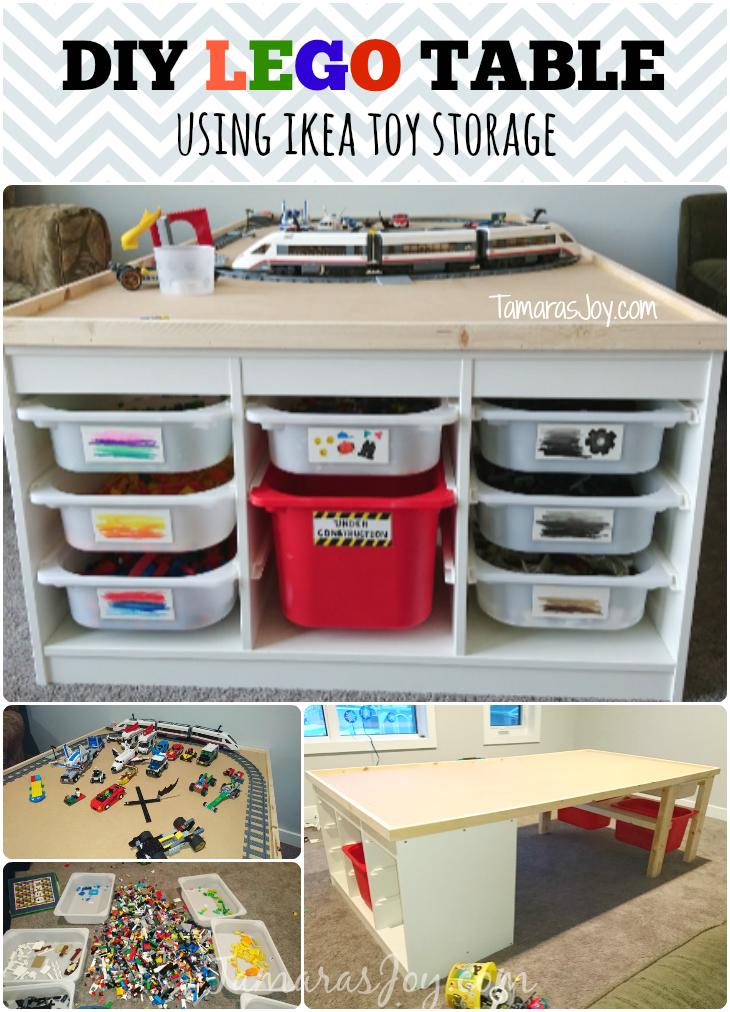 DIY LEGO TABLE  IKEA HACK  Tamara's Joy