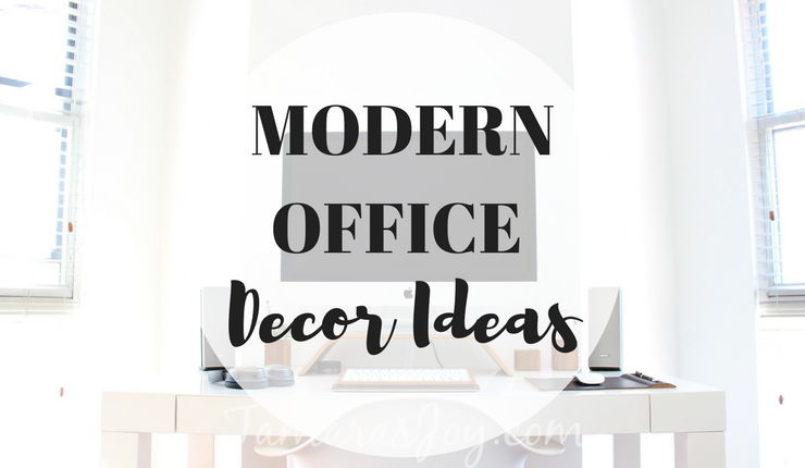 Create an inspiring place to work with these modern decor office items. tamarasjoy.com