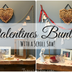 Scroll Saw Wooden Heart Bunting