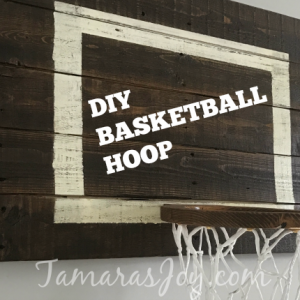 DIY Basketball Hoop for my boys bedroom