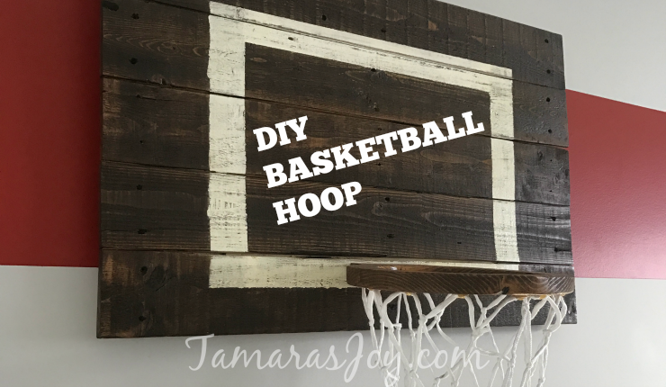 Diy Basketball Hoop For My Boys Bedroom ⋆ Tamara S Joy