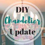Update an Old Chandelier with Spraypaint