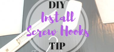 How to easily install a screw hook