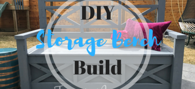 DIY Outdoor Storage Bench, Ana White inspired!