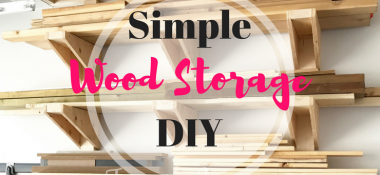 A Simple DIY Garage Lumber Rack that YOU can build!