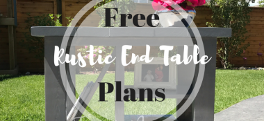 DIY Rustic Side Table with FREE PLANS