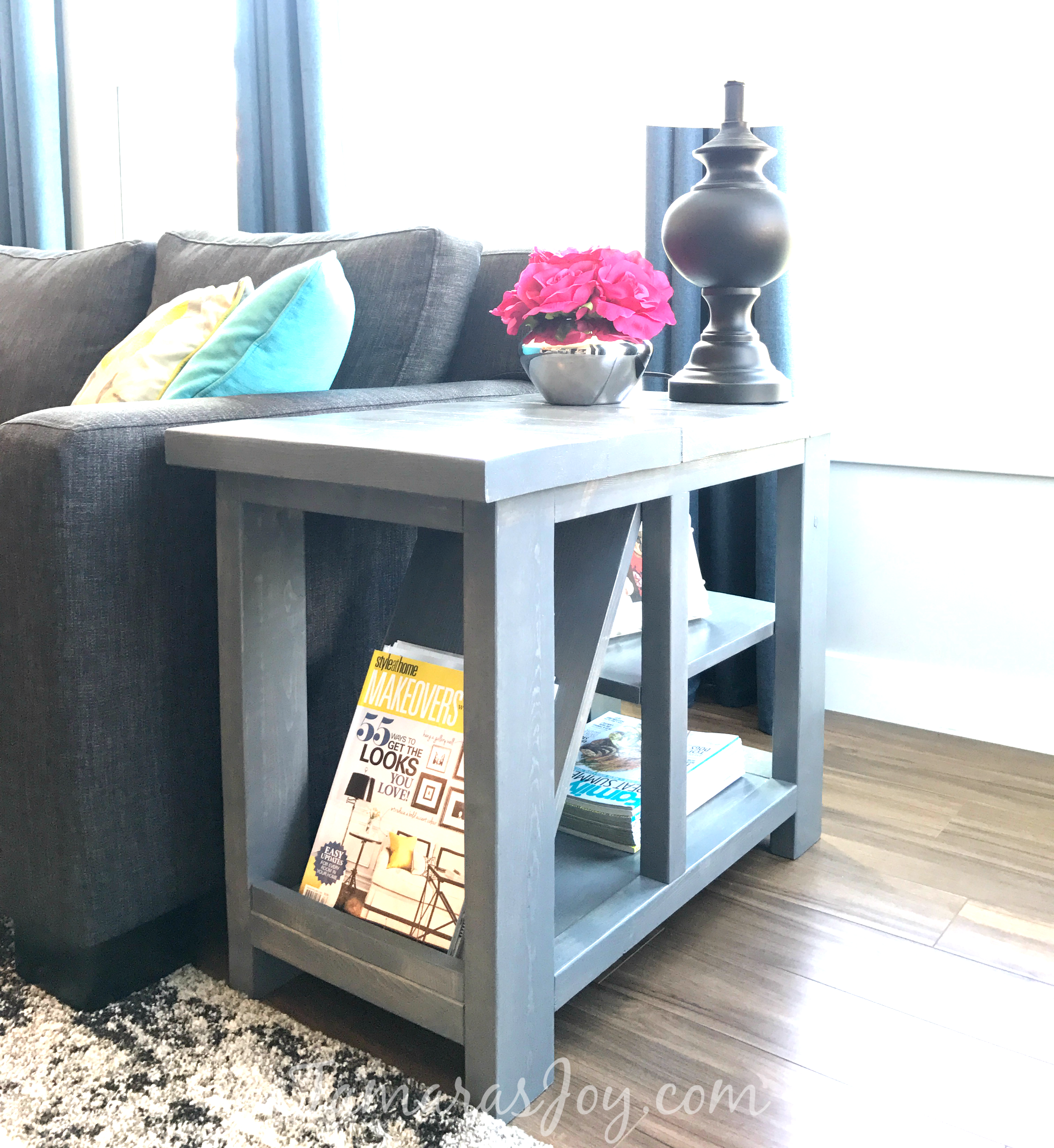 Diy Rustic Side Table With Free Plans Tamara 39 S Joy