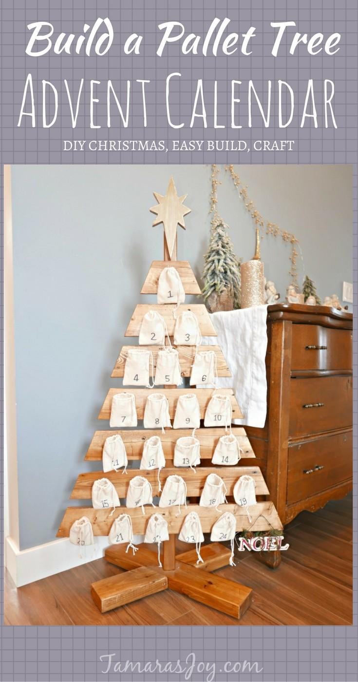 Christmas Calendar Self Made : Diy advent calendar tree made from a pallet tamara s joy