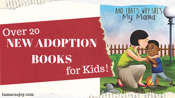 over 20 new adoption books for kids