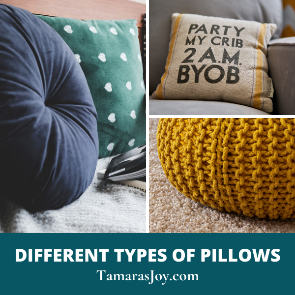 Different Types of Pillows to use decorating the home