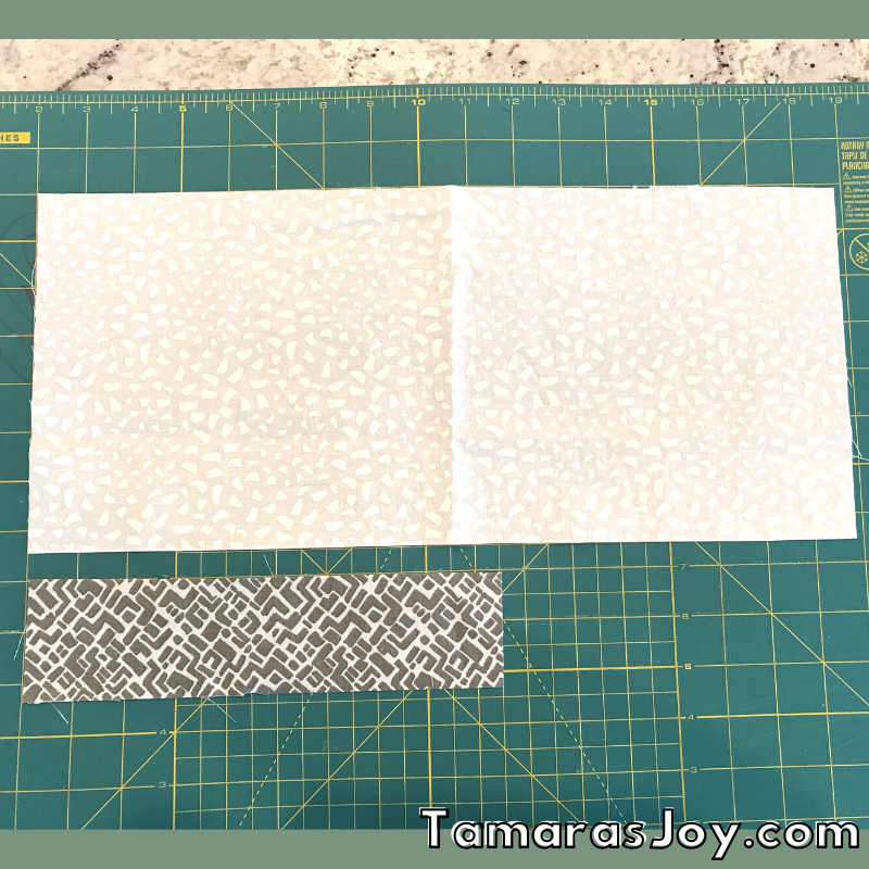 Fabric sizes for the face mask with filter pocket