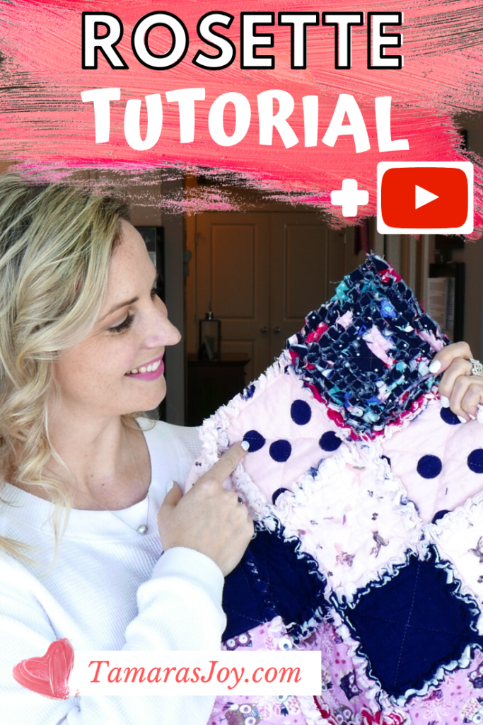 How to make a Rosette for a rag quilt baby blanket