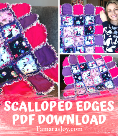 Rag Quilt Idea, Scalloped Edges