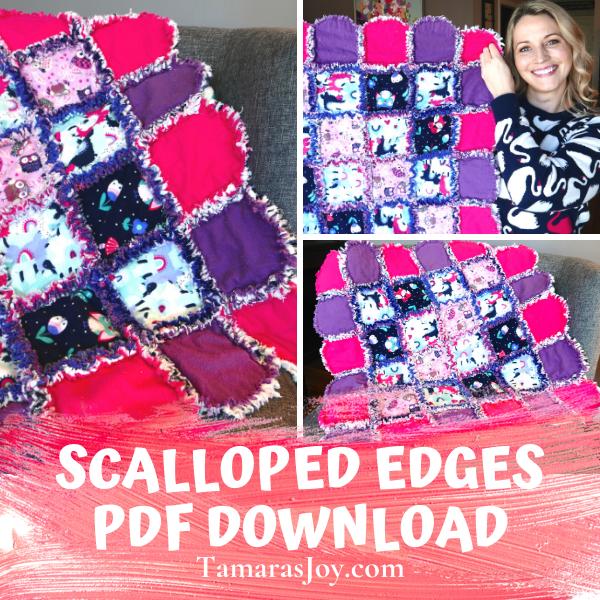 Rag Quilt Idea, Scalloped Edges