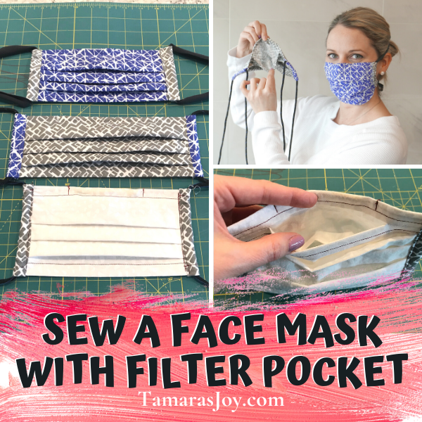 Sew a face mask with filter pocket