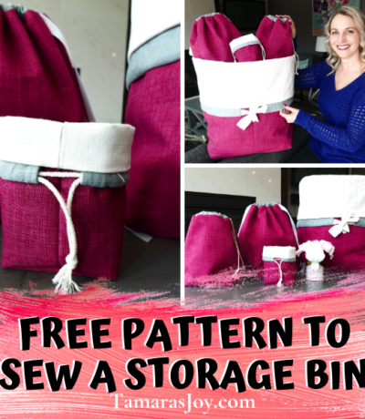 How to sew a drawstring bag with lining