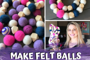 How to make felted balls in bulk