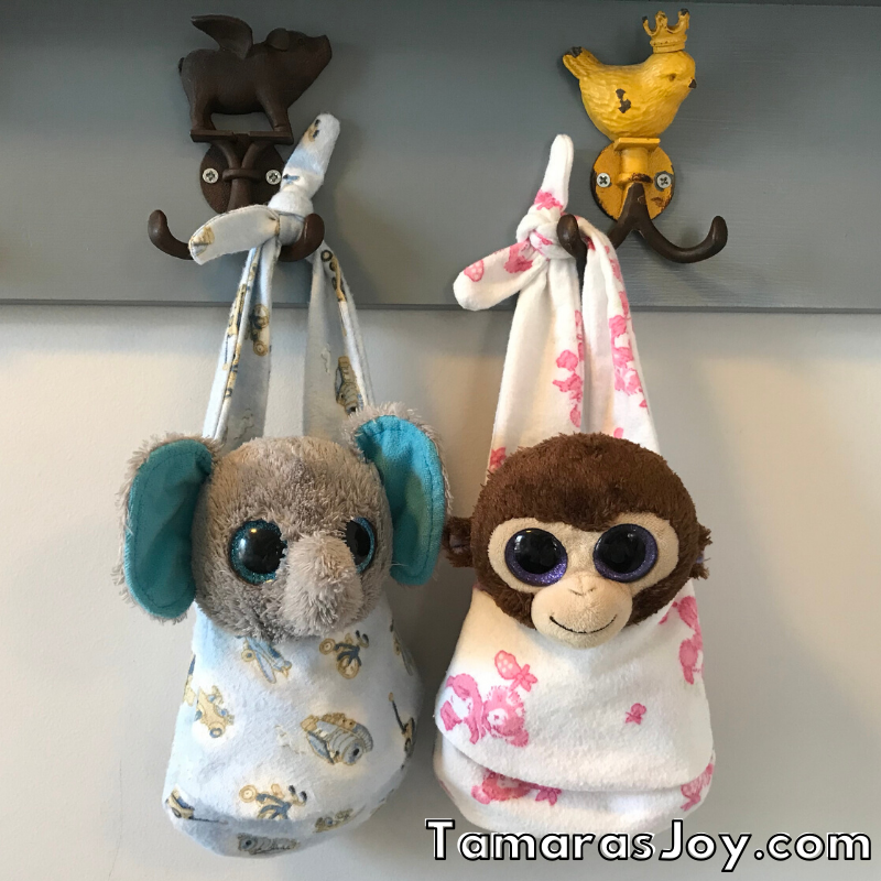 DIY Beanie Boo Accessory Pouches displayed